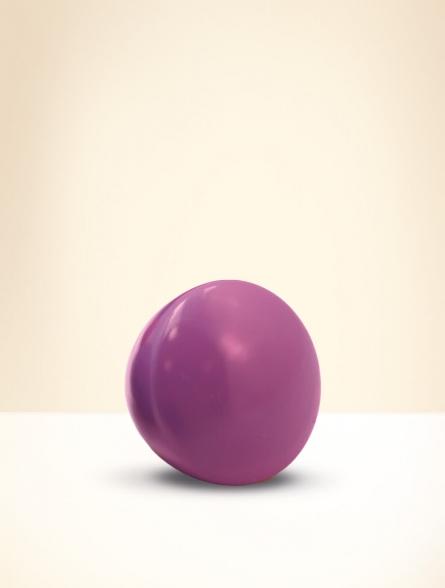Knob, beech wood, lacquered purple
