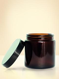 Ersatzglas mit Deckel - Braun