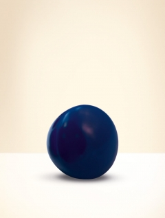 Knob, beech wood, lacquered blue
