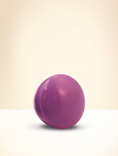 Knob, beech wood, lacquered purple