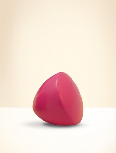Knob, beech wood, lacquered pink